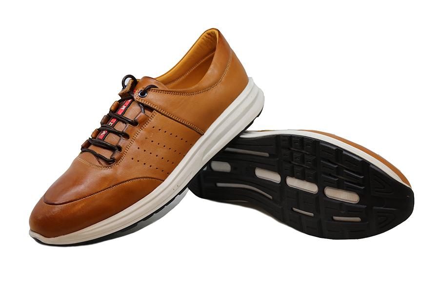 کفش چرم طبیعی مردانه اسپورت مدل PRADA
