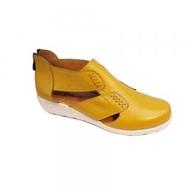 کفش تابستانی طبی راحتی زنانه چرم طبیعی تبریز کد 413
