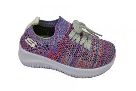 کفش کتونی بچه گانه جورابی مدل اسکیچرز کد548