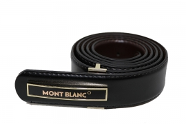 کمربند چرم طبیعی مردانه Mont Blance