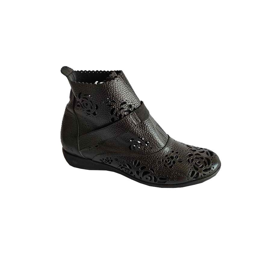 کفش تابستانی زنانه چرم طبیعی دست دوز تبریز کد 638