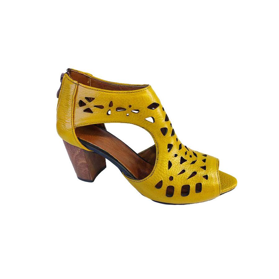 کفش تابستانی زنانه چرم طبیعی دست دوز تبریز کد 726