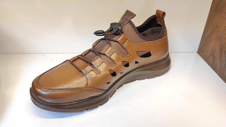 کفش اسپرت تابستانی مردانه چرم طبیعی  تبریز کد505