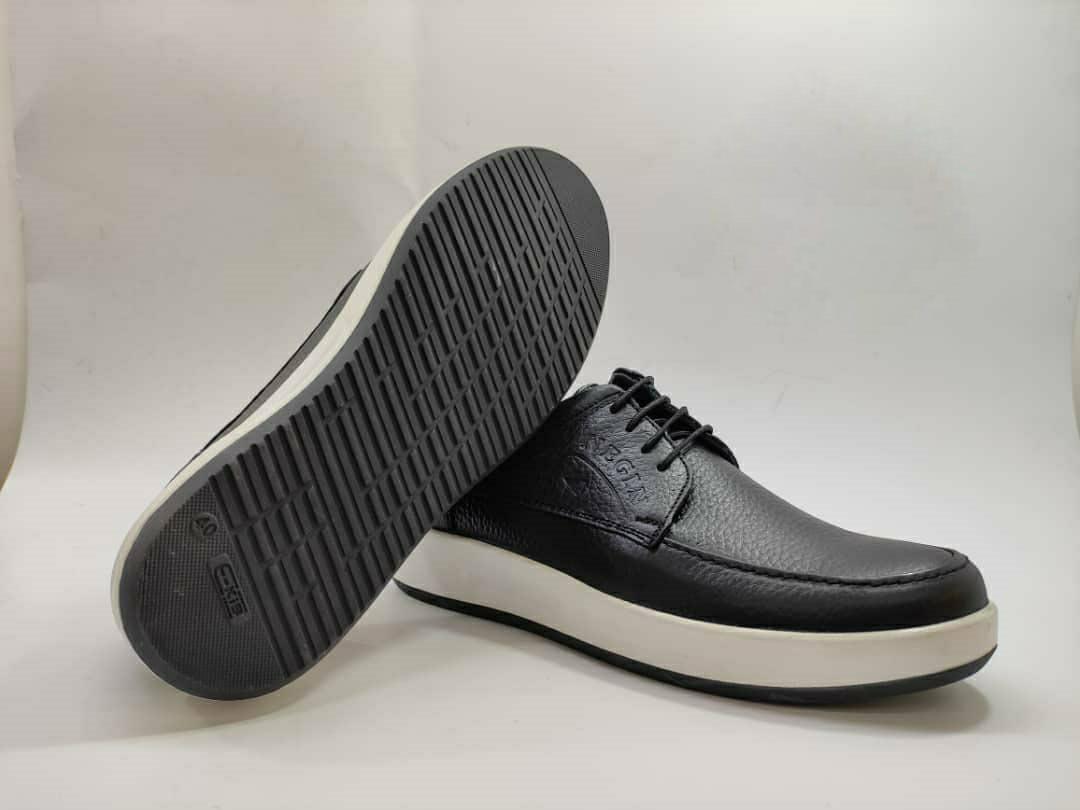 کفش اسپرت طبی راحتی مردانه چرم طبیعی تبریز کد 394