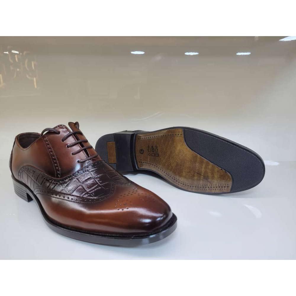 کفش مجلسی مردانه چرم طبیعی تبریز کد 816