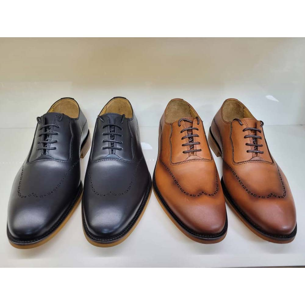 کفش مجلسی مردانه چرم طبیعی تبریز کد 818
