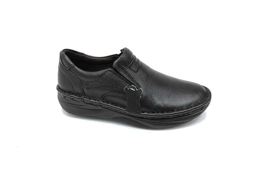 کفش  طبی مردانه چرم طبیعی تبریز کد 596
