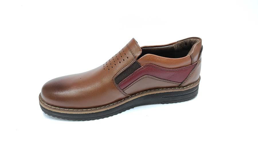 کفش مجلسی راحتی مردانه چرم طبیعی تبریز کد595