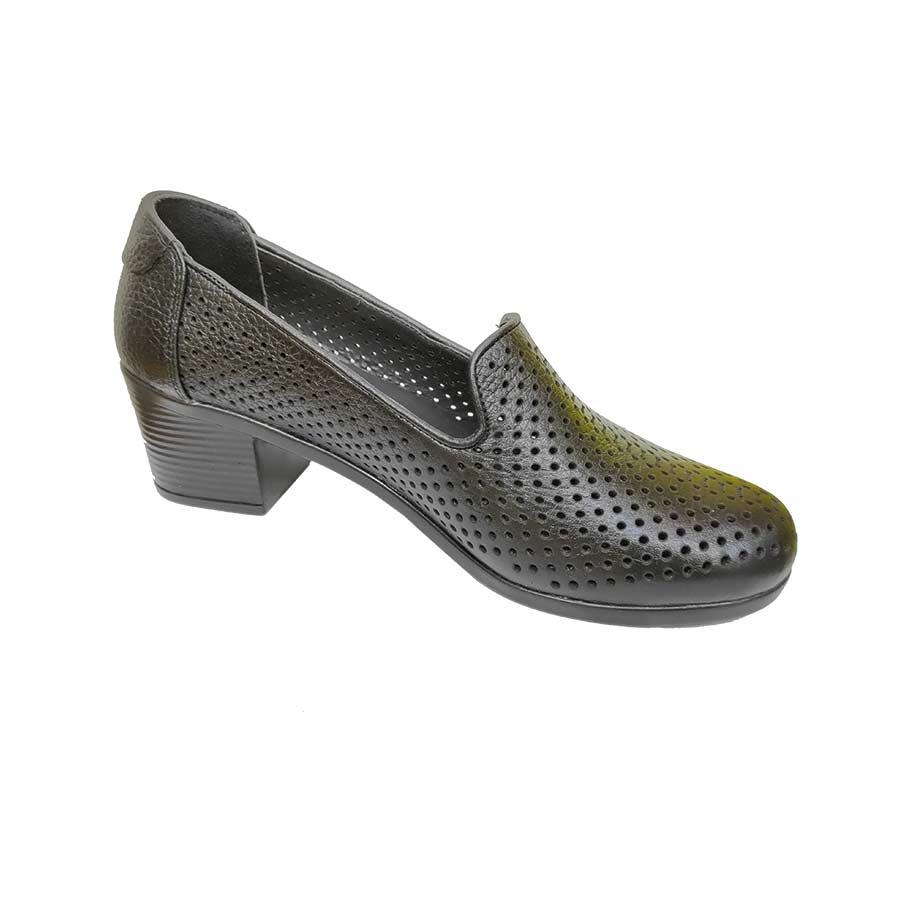 کفش تابستانی پاشنه دار زنانه چرم طبیعی  تبریز کد441