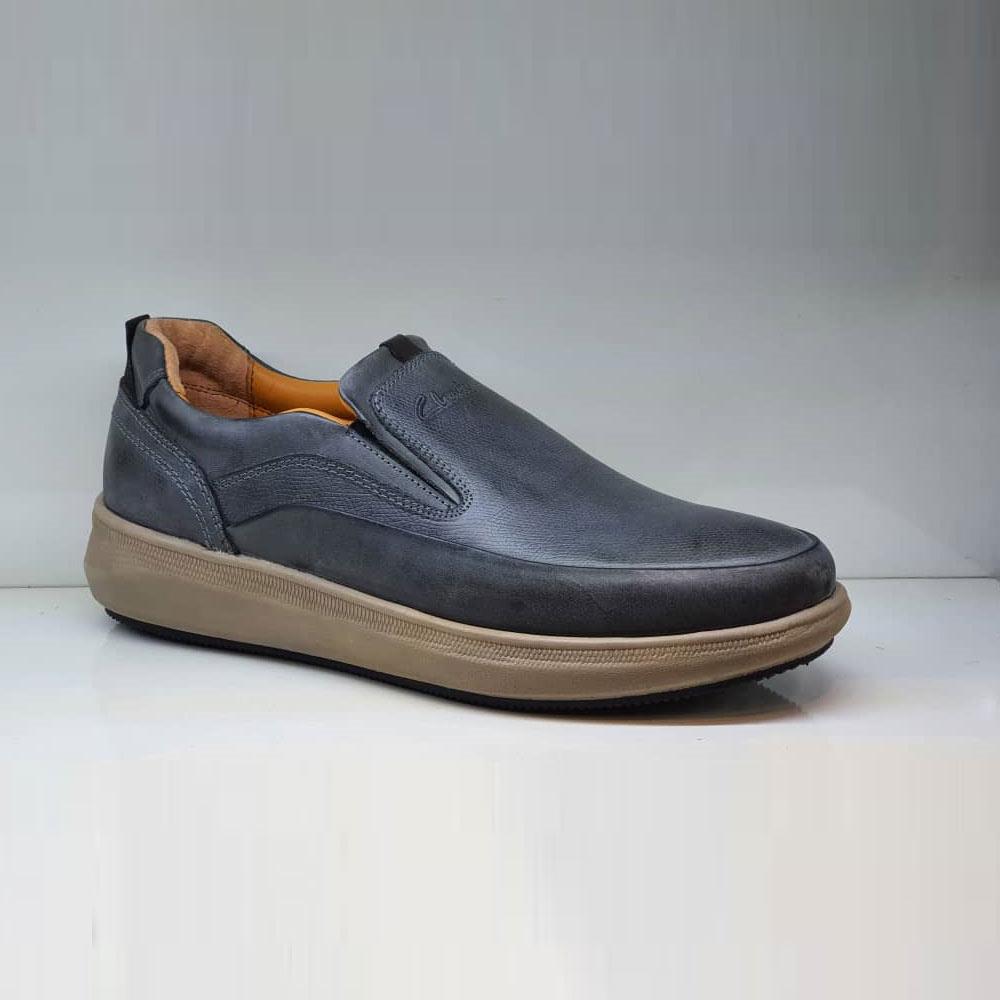 کفش طبی راحتی مردانه چرم طبیعی تبریز کد 802