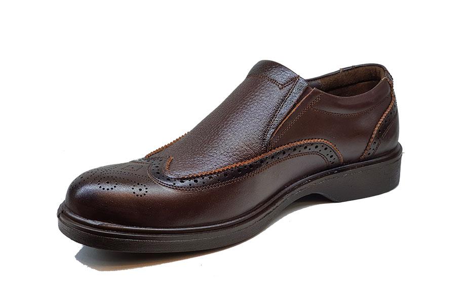 کفش راحتی مردانه چرم  طبیعی تبریز کد 118
