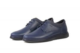 کفش چرم طبیعی مردانه اسپرت راحتی  بند دار1092