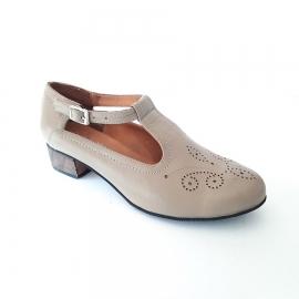کفش زنانه چرم طبیعی دست دوز تبریز کد 217