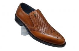 کفش چرم  طبیعی مجلسی مردانه دستدوز  تبریز کد 031