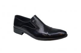 کفش ورنی مجلسی مردانه چرم  طبیعی دستدوز  تبریز کد 160