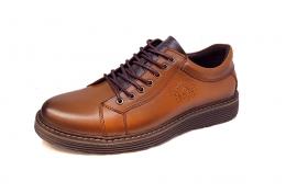 کفش کتونی مردانه تمام چرم طبیعی  تبریز کد 323