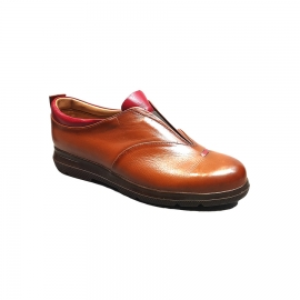 کفش راحتی زنانه  چرم طبیعی دست دوز تبریز کد 353