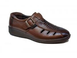 کفش تابستانی  طبی راحتی مردانه چرم طبیعی تبریز کد 422