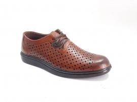 کفش تابستانی  طبی راحتی مردانه چرم طبیعی تبریز کد466