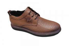 کفش تابستانی طبی راحتی مردانه چرم طبیعی تبریز کد474