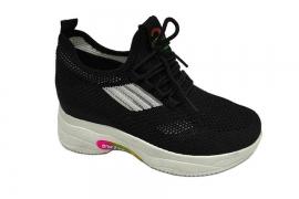 کفش کتونی دخترانه جورابی لژدار پاشنه مخفی  کد 555