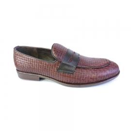 کفش کالج مردانه چرم طبیعی تبریز کد 723