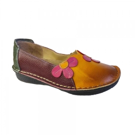 کفش طبی زنانه چرم طبیعی دست دوز تبریز کد 736